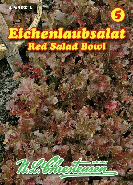 Eichenlaubsalat Salad bowl rossa