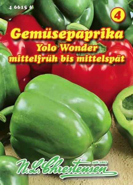 Gemüsepaprika Yolo Wonder