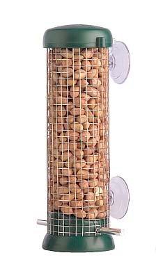Fensterfütterer für Erdnüsse - grün